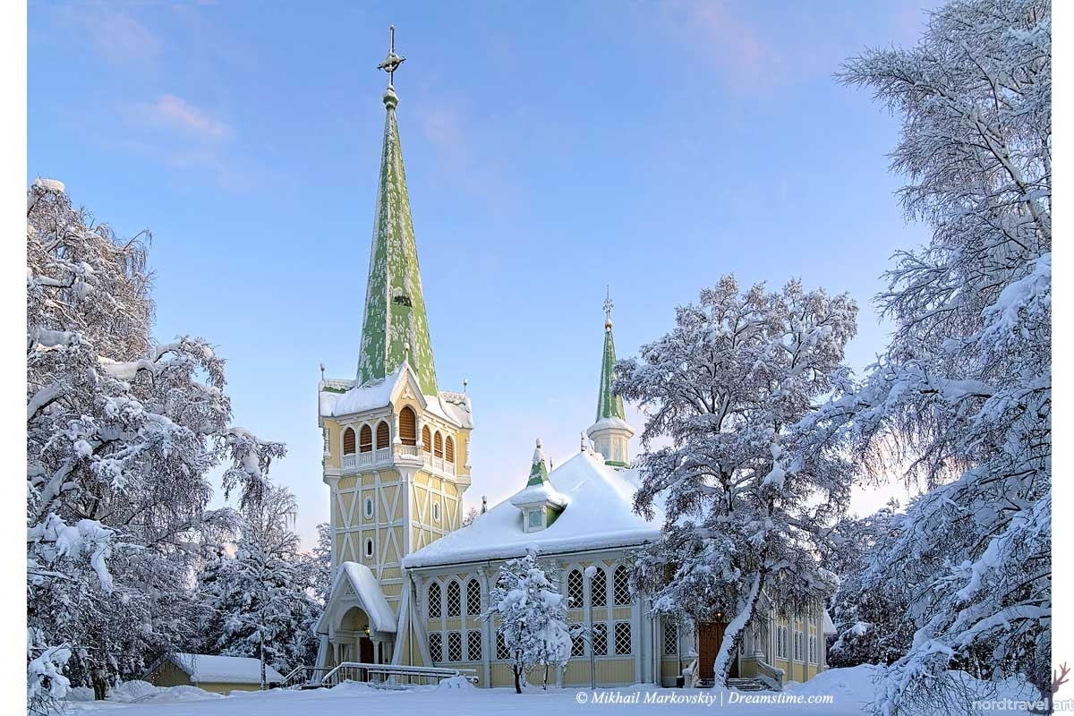 Северная архитектура. Швеция. Йокмокк. Церковь