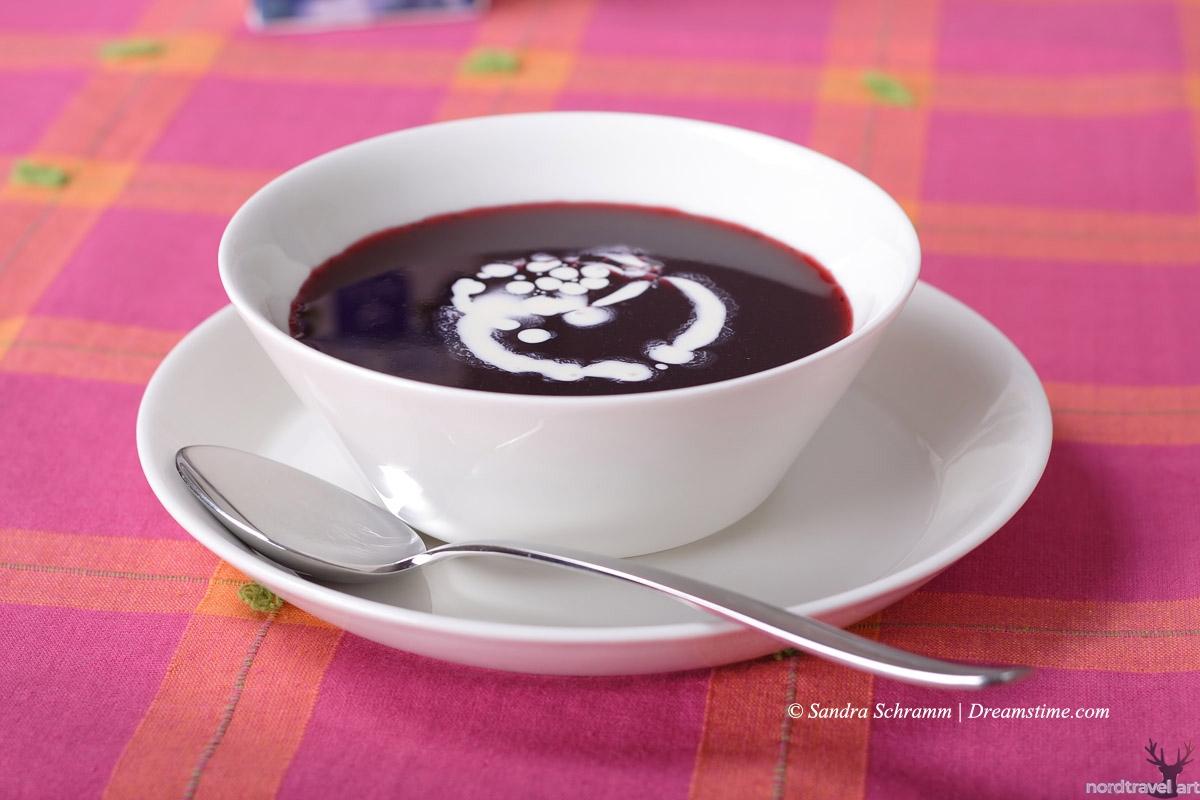 Шведский черничный суп Blåbärssoppa