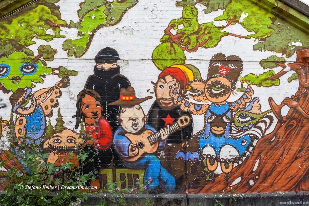 Христиания. Копенгаген. Дания. Граффити