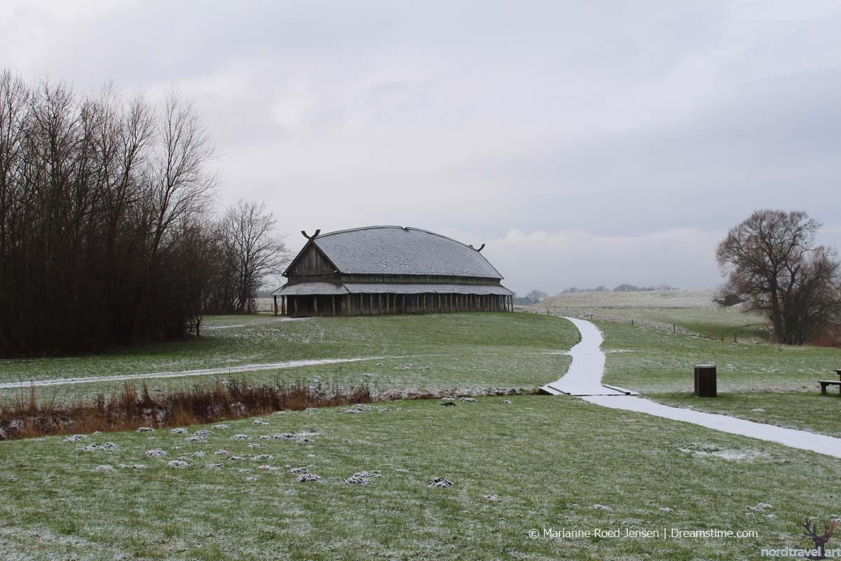 Укреплённый дом-крепость викингов.