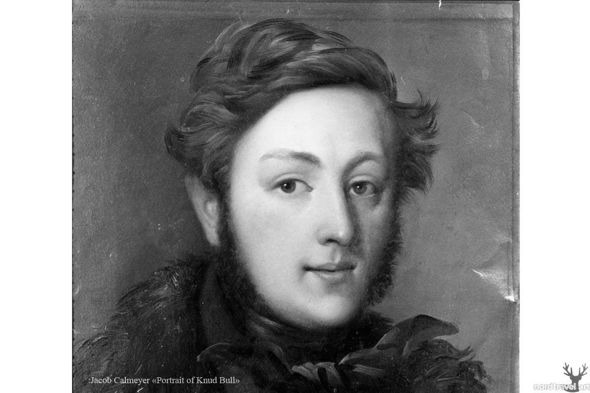 "Jacob Calmeyer ""Portrait of Knud Bull"" . Старинная гравюра"