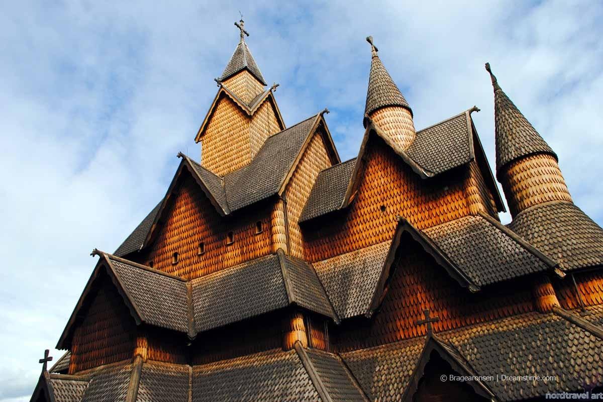 Сатвкирка в Хеддале. Традиционная архитектура Норвегии