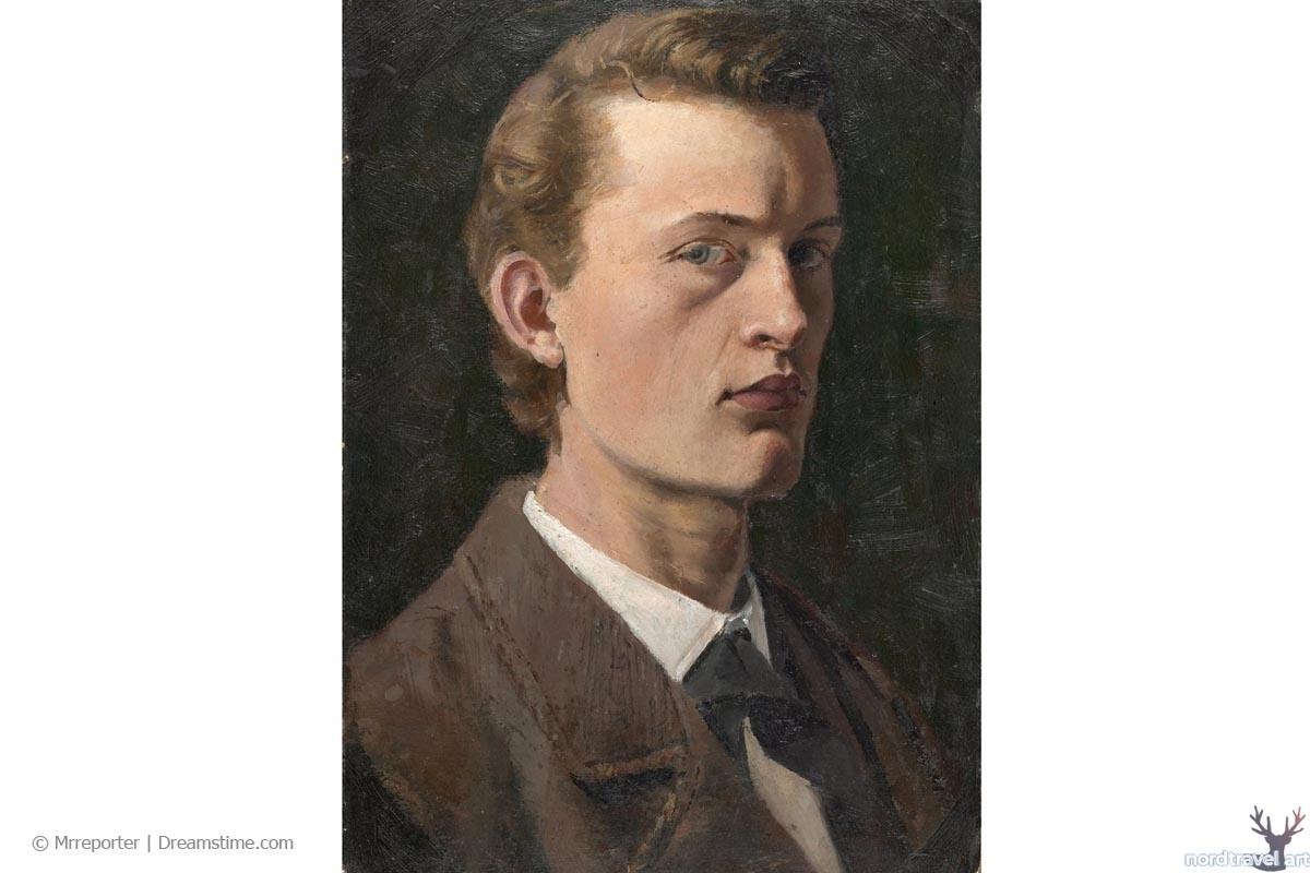 Эдвард Мунк. Автопортрет (1886). Национальная галерея Осло. Норвегия
